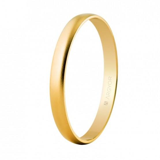 Alianza de boda oro 2,5mm arena (50253M)