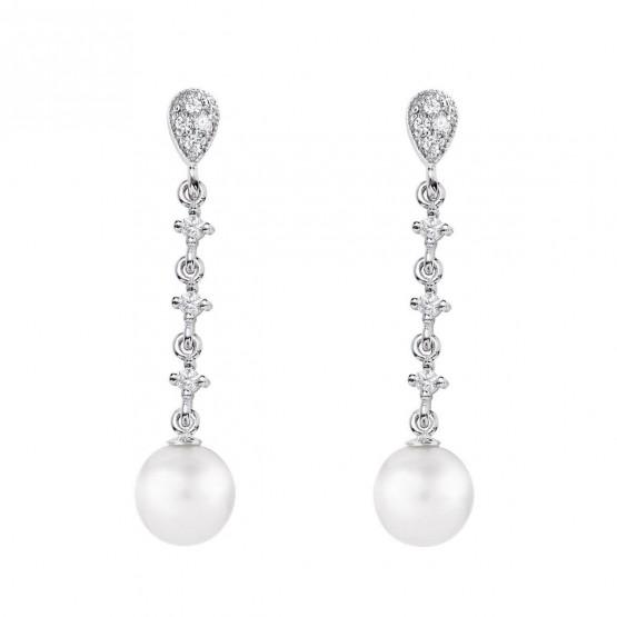Pendientes de novia en oro blanco de18k y perlas (79B0203TD1) 1