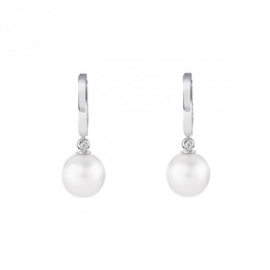 Pendientes de novia de oro blanco de18k con perlas (79B0300ND1) 1