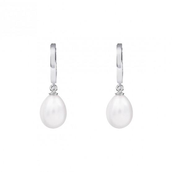 Pendientes de novia de oro blanco de18k con perlas (79B0300NE1) 1