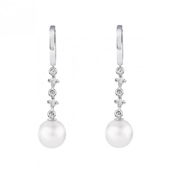 Pendientes de novia en oro blanco de18k y perlas (79B0302TD1) 1