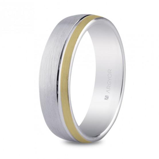 Alianza de plata de diseño para hombre 5,5mm (5755050ND1)