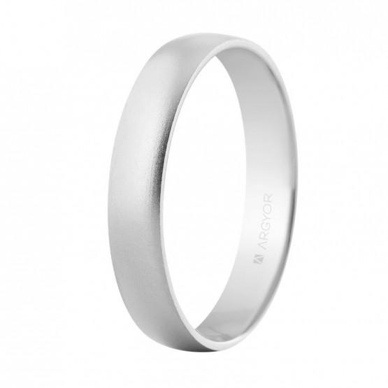 Alianza de boda oro blanco 4mm arena confort (564B001M)