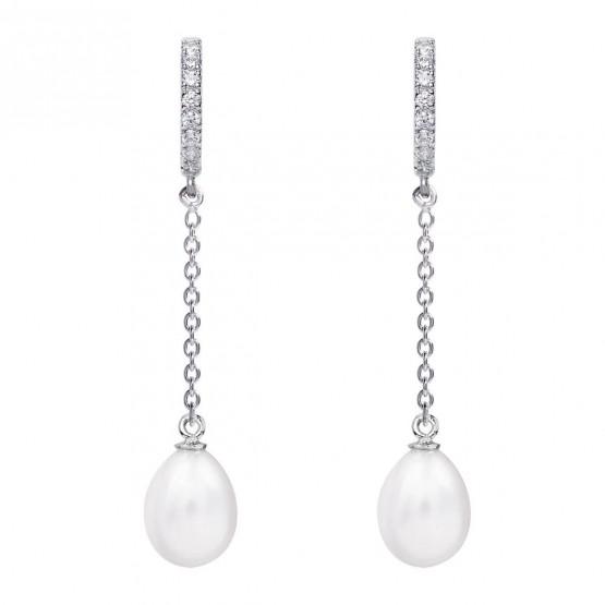 Pendientes de novia en plata y topacios cadena (79B0407TE1) 1