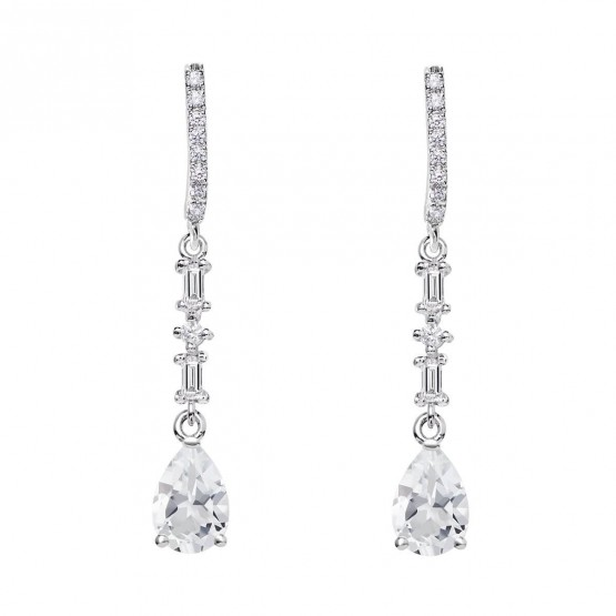 Pendientes de novia plata con topacios (79B0506TA1) 1