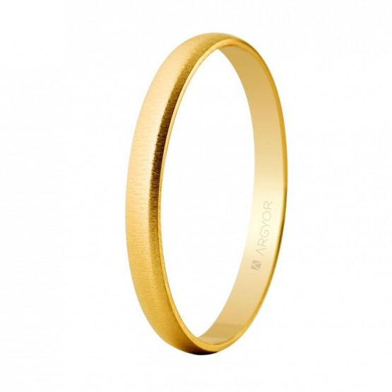 Alianza boda oro amarillo 2,5mm texturizada (50253T)