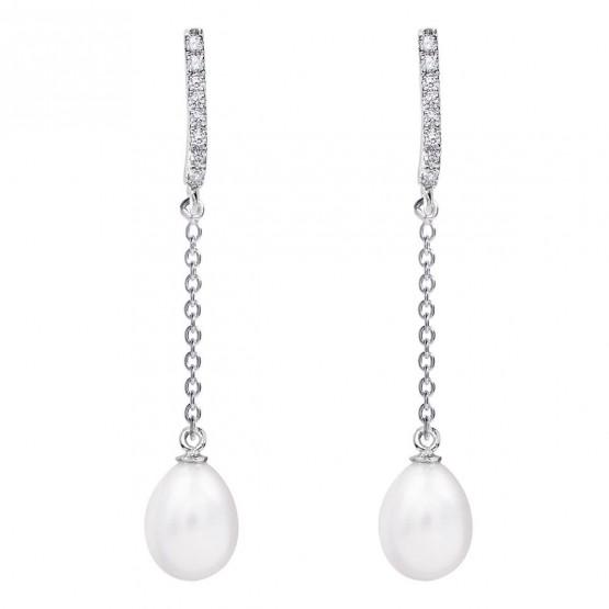 Pendientes de novia en plata y topacios cadena (79B0507TE1) 1