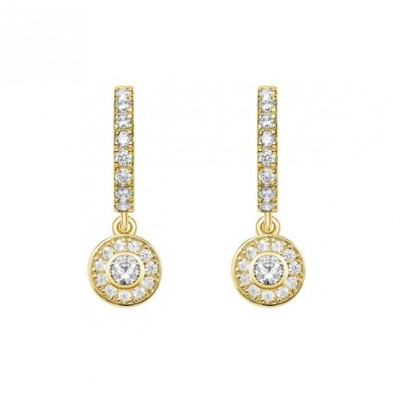 Pendientes oro amarillo 18k con diamantes (75A0211)