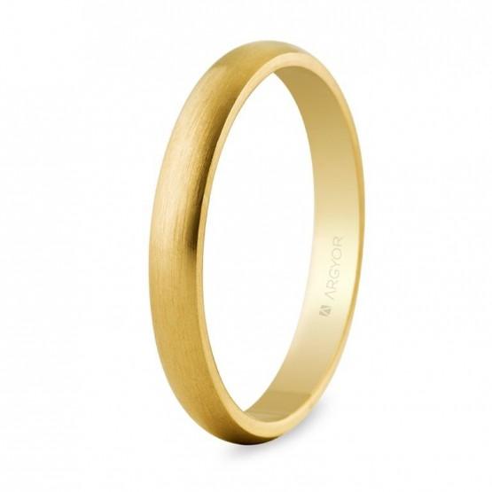 Alianza de boda oro amarillo 3mm satinada (50306S)