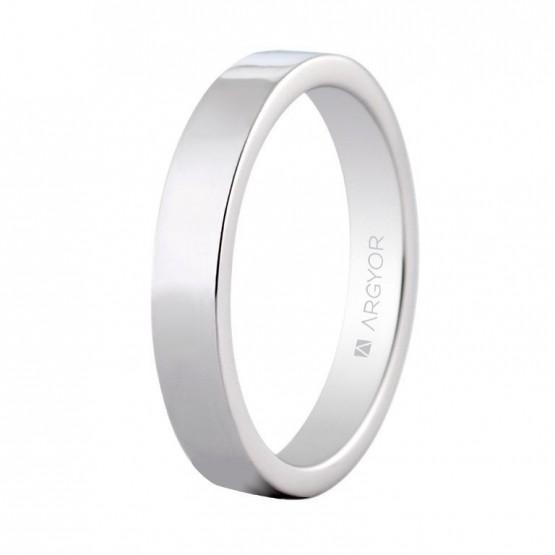 Alianza de platino confort 4mm (0594009)