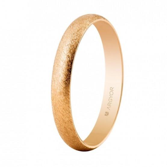 Alianza de boda en oro rosa 3mm hielo (5C305H)