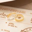 Alianza de boda bicolor dos oros estriado 4mm (5240308)
