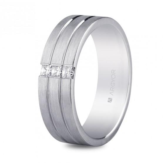 Alianza plata y circonitas triple banda 6,5mm confort (5765152N)