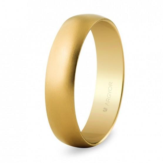 Alianza boda oro 5mm efecto arena (50505M)