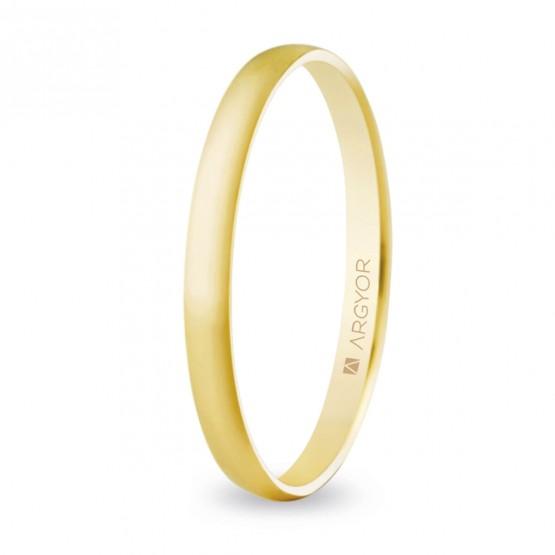 Alianza de boda oro media caña fina 2mm (50201)