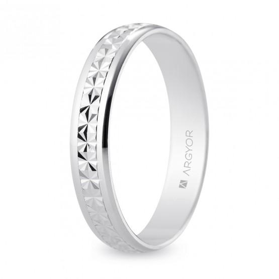 Alianza de boda 4mm facetada efecto diamantado (5740108)