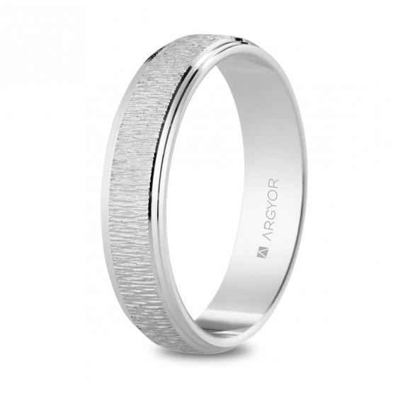 Anillo de boda en plata de ley 925 texturizada 4.5 mm (5745524)