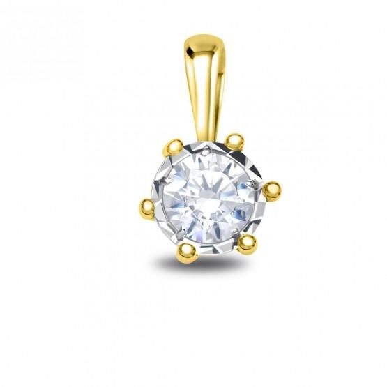 Colgante oro amarillo con diamante en 6 garras (75A0503)