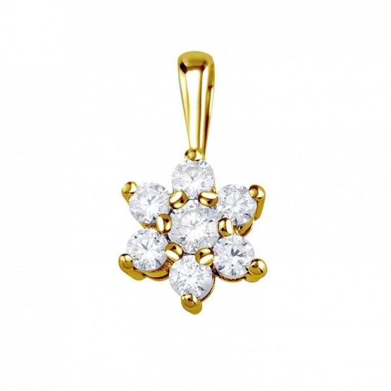 Colgante oro amarillo 18k con 7 diamantes (75A0014)