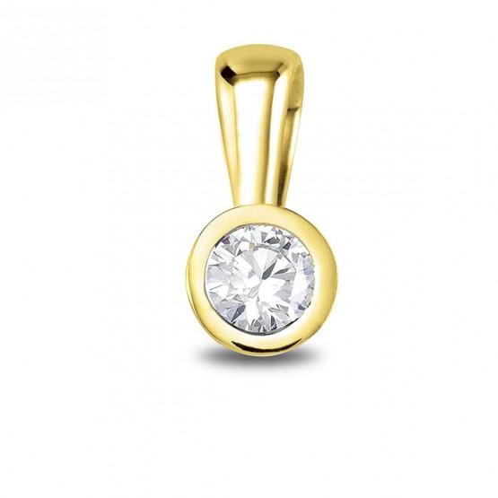 Colgante oro amarillo con 1 diamante (75A0005)