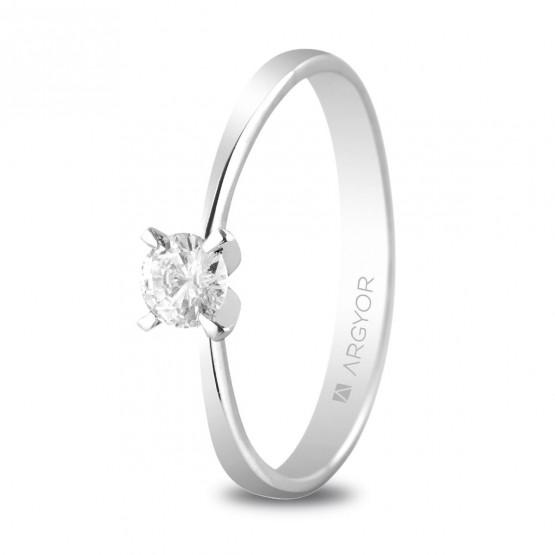 Anillo de compromiso de platino con diamante 0.25ct (74B0030)