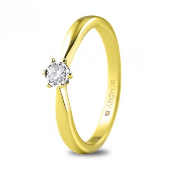 Anillo de compromiso 1 diamante talla brillante 0,14ct (74A0514)