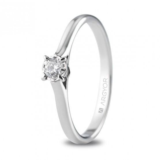 Anillo de compromiso oro blanco con 1 diamante 0.14ct (74B0504)