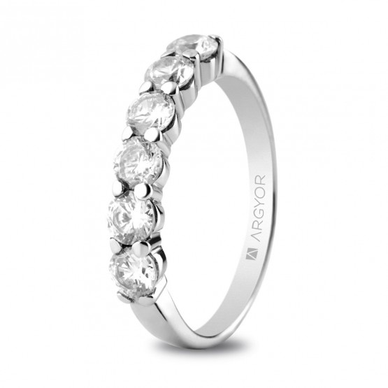Anillo de compromiso platino 6 diamantes 1ct (74B0038)
