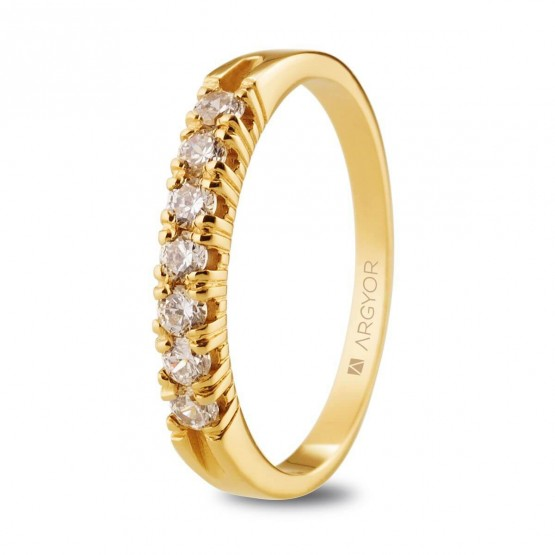 Anillo de diamantes en oro amarillo 0.32ct (74A0114)