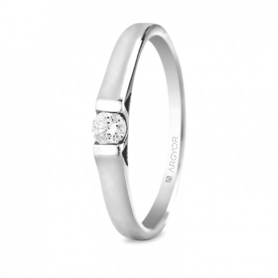 Anillo de Platino con 1 diamante 0.10ct (74B0032)