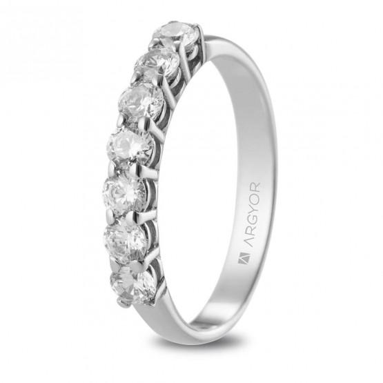 Anillo de compromiso de oro blanco con diamantes 0.56ct (74B0111)