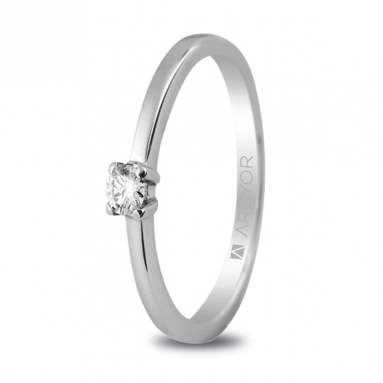 Anillo de compromiso 1 diamante 0,10ct (74B0004)