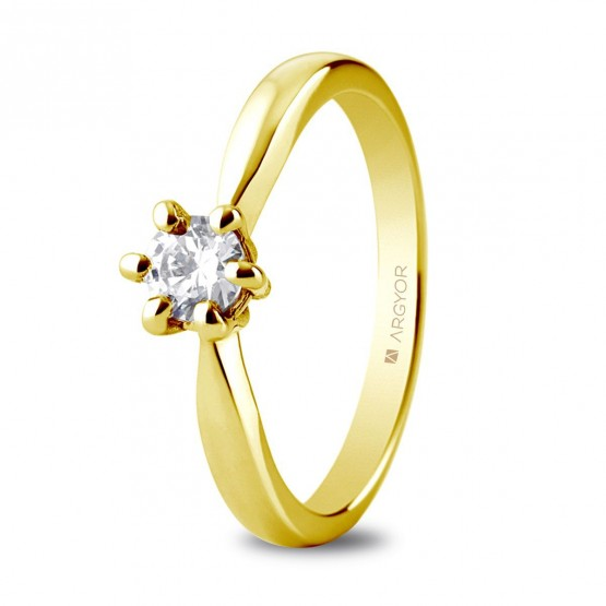 Anillo de pedida 1 diamante talla brillante 0,34ct (74A0040)