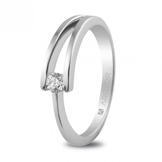 Anillo de compromiso con 1 diamante 0.10ct (74B0012)