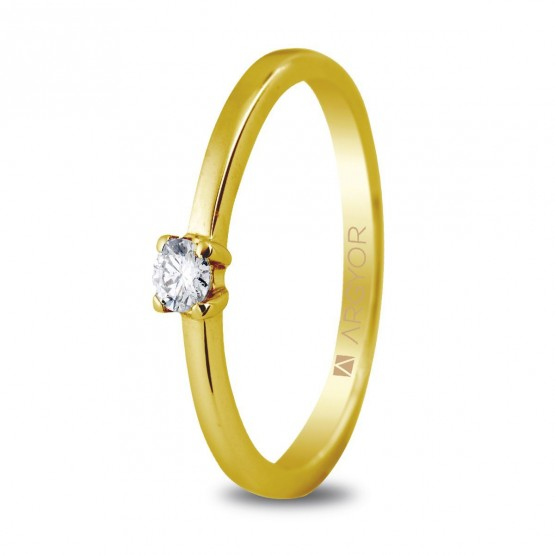 Anillo de compromiso 1 diamante talla brillante 0.10ct (74A0004)