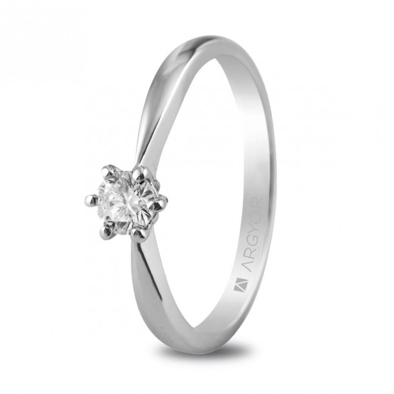 Anillo de compromiso 1 diamante 0.25ct (74B0016)