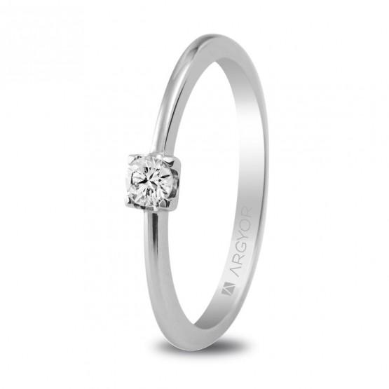 Anillo de compromiso con 1 diamante talla brillante 0.10ct (74B0005)