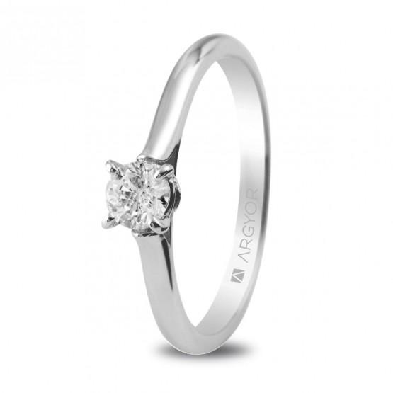 Anillo de compromiso con 1 diamante 0.30ct (74B0018)