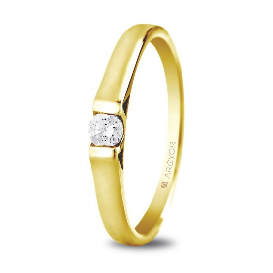 Anillo de compromiso 1 diamante talla brillante 0.10ct (74A0032)
