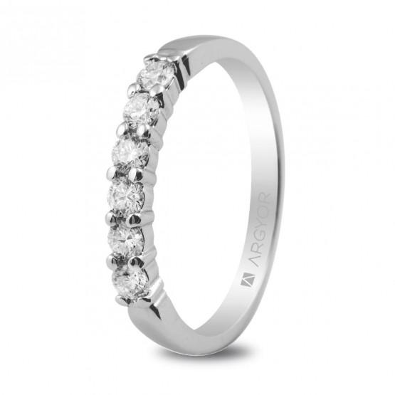 Anillo de compromiso con 6 diamantes 0.39ct (74B0015)