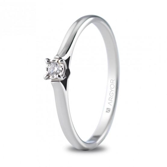 7b32399af570 Anillo de compromiso oro blanco con 1 diamante 0.05ct (74B0502)