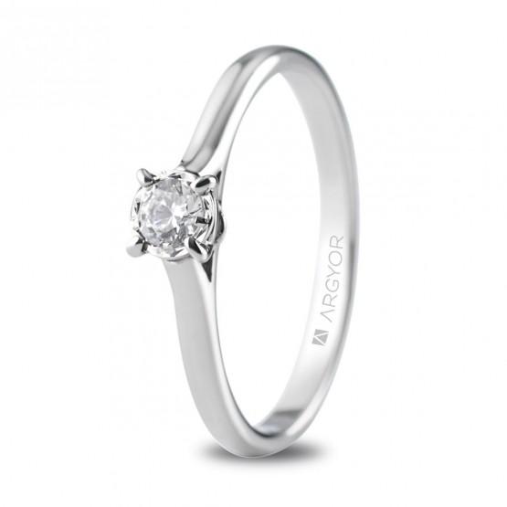 Anillo de compromiso con 1 diamante 0.20ct (74B0505)