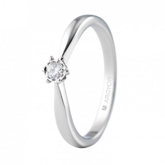Anillo de compromiso oro blanco con 1 diamante 0.08ct (74B0513)