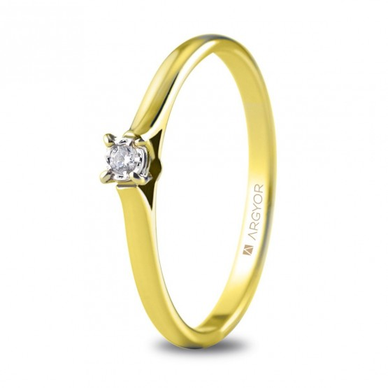 Anillo de compromiso 1 diamante talla brillante 0,03ct (74A0501)