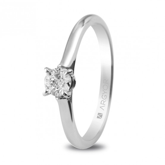 Anillo de Platino con 1 diamante 0.30ct (74B0018)