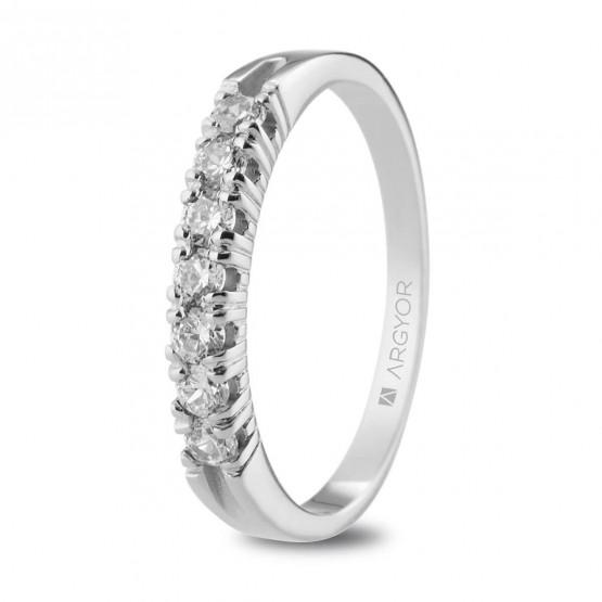 Anillo de Compromiso de platino y diamantes 0.32ct (74B0114)