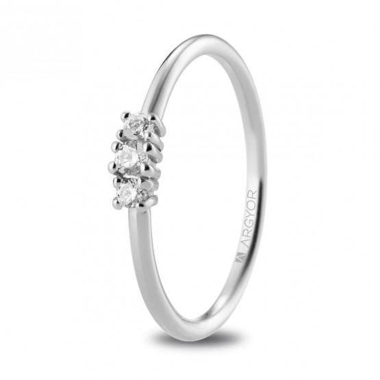 Anillo de compromiso de platino y diamantes (74B0080)