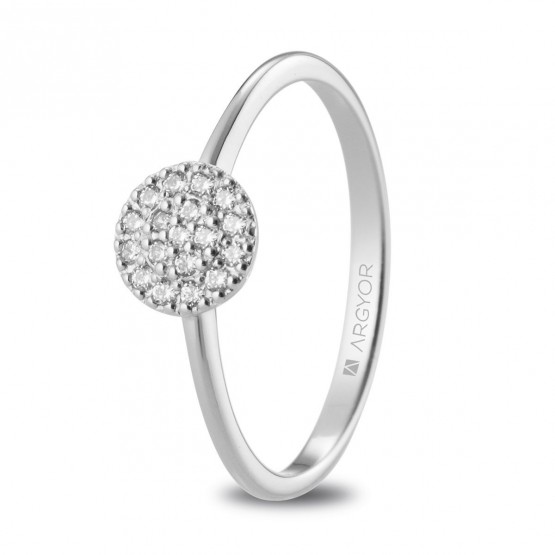 Anillo de diamantes 0.13ct de platino (74B0089)