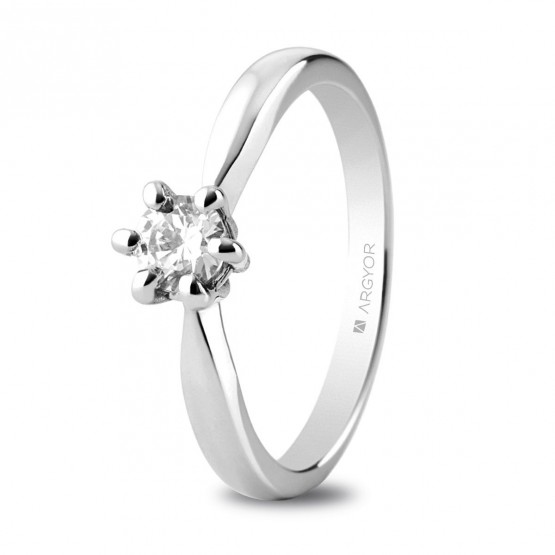 Anillo de platino con diamante 0.34 ct (74B0040)