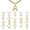 Gargantilla de plata dorada Abecedario (3A8307310)